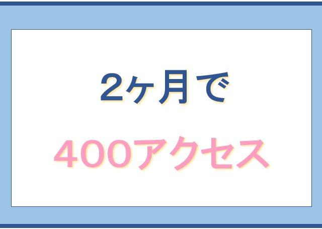 2ヶ月で400アクセス達成した画像