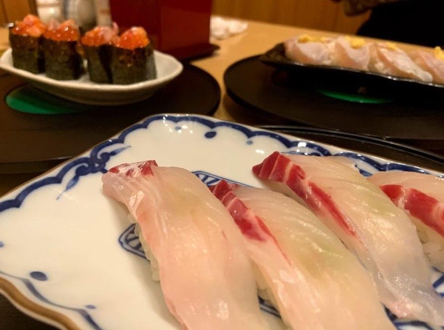 刈谷駅の回転寿司ざぶんの鯛